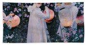 Carnation Lily Lily Rose Bath Towel