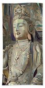 Colorful Indian Diety Figure Bath Towel