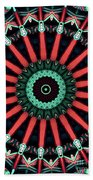 Colorful Kaleidoscope Incorporating Aspects Of Asian Architectur Hand Towel