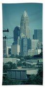 Early Morning Sunrise Over Charlotte North Carolina Skyscrapers Bath Towel