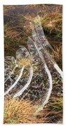 4. Ice Prismatics In Grass 1, Loch Tulla,  Bath Towel