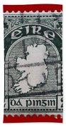 Irish Postage Stamp Bath Towel