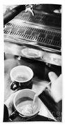 Italian Espresso Expresso Coffee Making Preparation With Machine Bath Towel