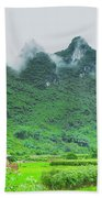 Karst Mountains Rural Scenery Bath Towel