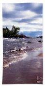 Lake Superior Shoreline Bath Towel