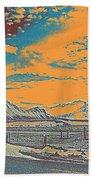 Mountain Landscape Bath Towel