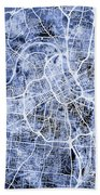 Nashville Tennessee City Map Bath Towel