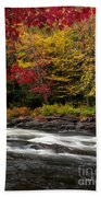 Ontario Autumn Scenery Bath Towel
