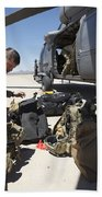 Pararescuemen Sorts Out His Gear Bath Towel