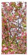 Pink Cherry Tree Bath Towel