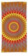 Psycho Hypno Floral Pattern Bath Towel