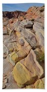 Rainbow Of Color In Valley Of Fire Bath Towel