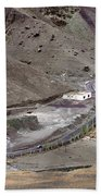 Rocky Landscape Of Leh City Ladakh Jammu And Kashmir India Bath Towel