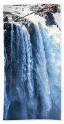 Snoqualmie Falls Washington State Nature In Daylight Bath Towel