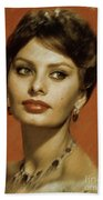 Sophia Loren, Vintage Actress Bath Towel