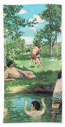 Summer Scene  Bath Towel