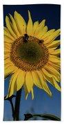 Sunflower Fields Bath Towel