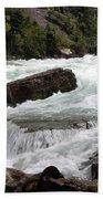 The Niagara River Bath Towel