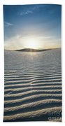 The Unique And Beautiful White Sands National Monument In New Mexico. Bath Towel
