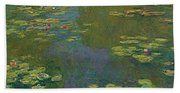 The Waterlily Pond Bath Towel