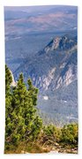 View Of Tatra Mountains From Hiking Trail. Poland. Europe. Bath Towel