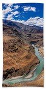 Zanskar River Ladakh Jammu And Kashmir India Bath Towel