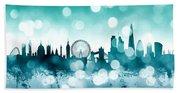 London England Skyline Bath Towel