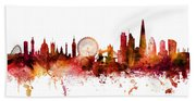 London England Skyline Bath Towel
