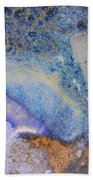 42. V2 Blue Purple Orange Black Glaze Painting Bath Towel