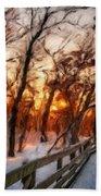 Landscape Oil Painting Bath Towel