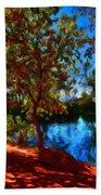 Landscape Paintings Canvas Prints Bath Towel