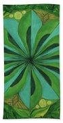 4th Mandala - Heart Chakra Bath Towel