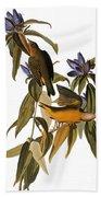 Audubon: Warbler, (1827-38) Bath Towel