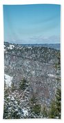 Beautiful Nature And Scenery Around Snowshoe Ski Resort In Cass  Bath Towel