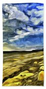 Birling Gap And Seven Sisters Art Bath Towel