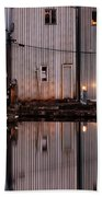 Boathouse Reflections  Bath Towel
