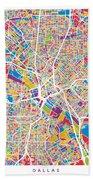 Dallas Texas City Map Hand Towel