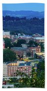Downtown Morgantown And West Virginia University Bath Towel