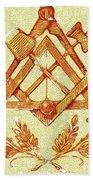 Freemason Symbolism Bath Towel