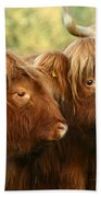 Highland Cattle Bath Towel