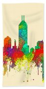 Indiana Indianapolis Skyline Bath Towel
