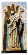 Interior Statue - San Xavier Mission - Tucson Arizona Bath Towel