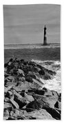 Morris Island Lighthouse Bath Towel