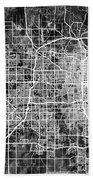 Omaha Nebraska City Map Bath Towel