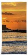 Orange Sunrise Seascape Bath Towel