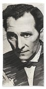 Peter Cushing, Vintage Actor Bath Towel