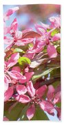 Pink Cherry Flowers Bath Towel