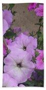 Pink Flowers  Bath Towel