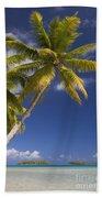 Polynesian Beach With Palms Bath Towel