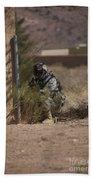 U.s. Soldier Conducts A Combat Training Bath Towel
